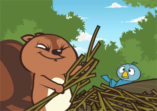 Bird and Kip 19: A Bunch of Sticks