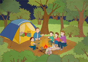 The Carter Family 4: A Camping Trip!