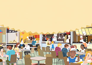 19. There Is a Food Court