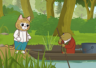 Tom Kitten Goes Fishing 1: Tom Meets a Frog