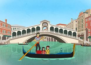A Gondola Ride in Venice